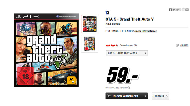 Grand Theft Auto 5 (GTA 5) © Media Markt