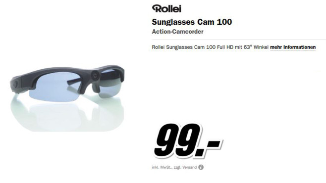 Rollei Sunglasses Cam 100 © Media Markt