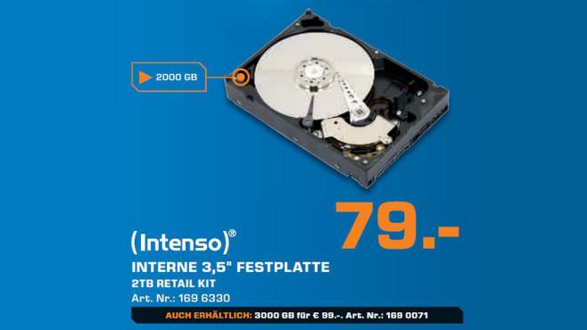 "Intenso 3,5"" interne Festplatte 2TB (6513284) ©Saturn"