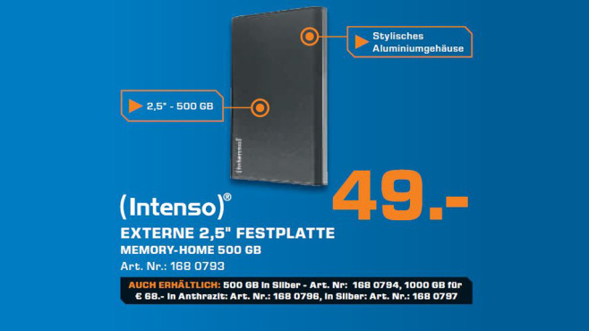 Intenso Memory Home 500GB © Saturn