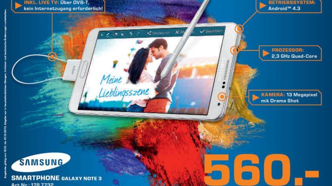 Samsung Galaxy Note 3 ©Saturn
