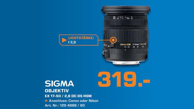 Sigma 17-50mm f2.8 EX DC OS HSM ©Saturn