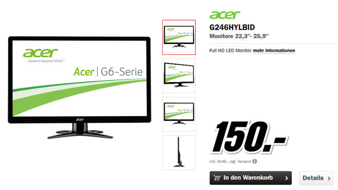 Acer G246HYLbid ©Media Markt