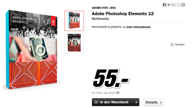 Adobe Photoshop Elements 12 (DE) (Win/Mac) (Box) © Media Markt