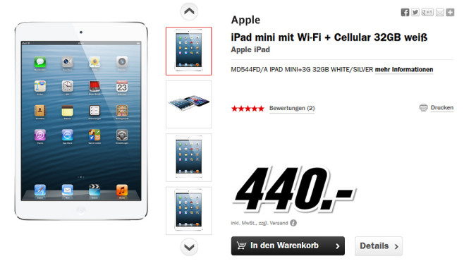Apple iPad mini 32GB WiFi + 4G © Media Markt