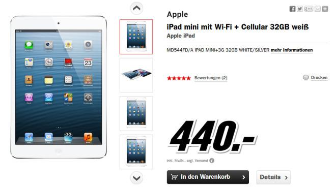 Apple iPad mini 32GB WiFi + 4G ©Media Markt