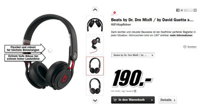 Beats By Dr. Dre Mixr © Media Markt