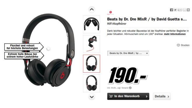 Beats By Dr. Dre Mixr ©Media Markt