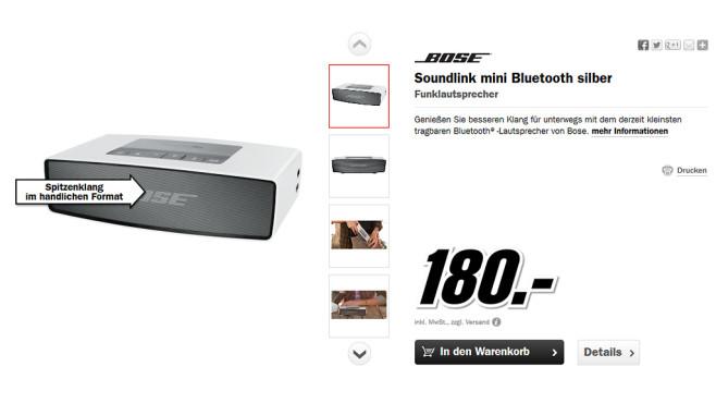 Bose SoundLink Mini Bluetooth Speaker ©Media Markt