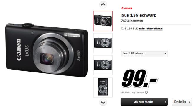 Canon IXUS 135 ©Media Markt