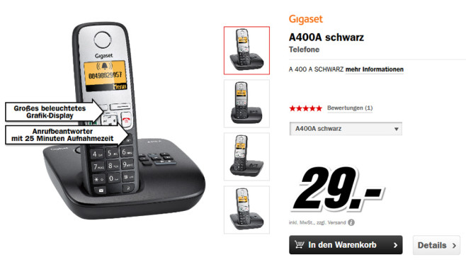 Gigaset A400A Single © Media Markt