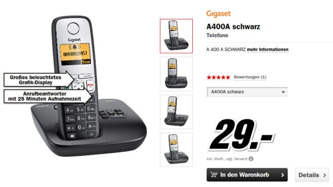 Gigaset A400A Single ©Media Markt