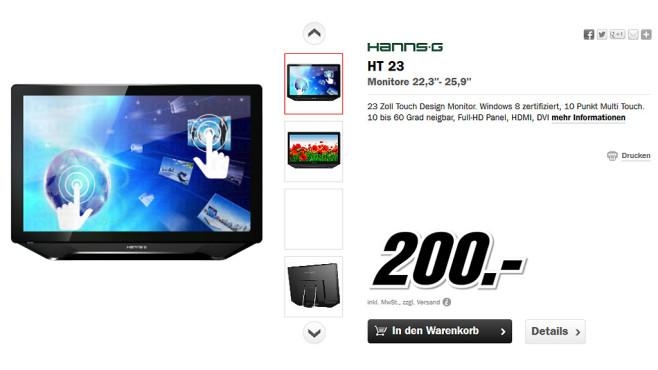 HANNS-G HT231HPB ©Media Markt