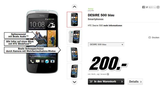 HTC Desire 500 ©Media Markt