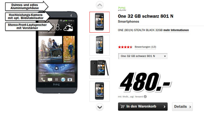 HTC One © Media Markt