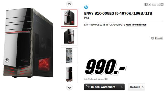 Hewlett-Packard HP Envy Phoenix 810-005EG (D7T73EA) ©Media Markt