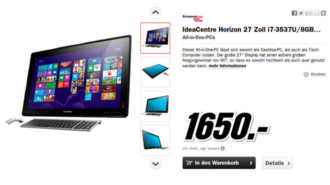 Lenovo IdeaCentre Horizon (57315983) © Media Markt