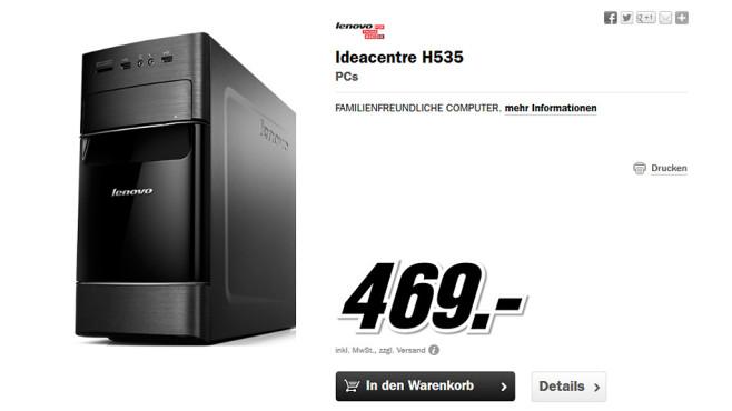 Lenovo Ideacentre H535 ©Media Markt