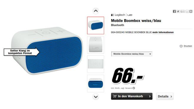 Logitech UE Mobile Boombox ©Media Markt
