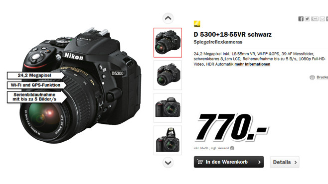Nikon D5300 Kit 18-55 mm © Media Markt