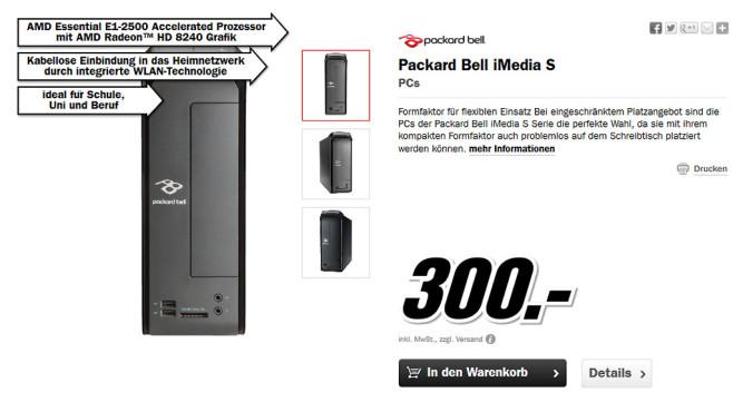 Packard Bell iMedia S ©Media Markt