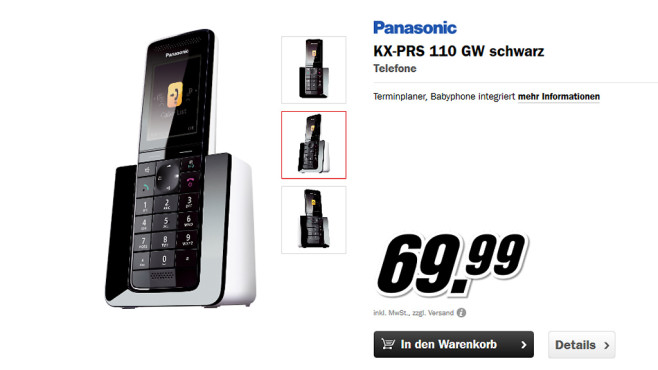Panasonic KX-PRS110 Single ©Media Markt