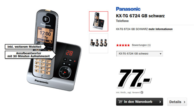 Panasonic KX-TG 6724 Quartett © Media Markt