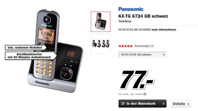Panasonic KX-TG 6724 Quartett ©Media Markt
