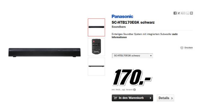 Panasonic SC-HTB170 ©Media Markt