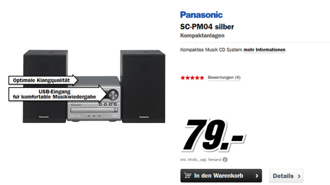 Panasonic SC-PM04 © Media Markt