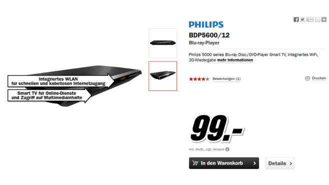 Philips BDP5600 ©Media Markt