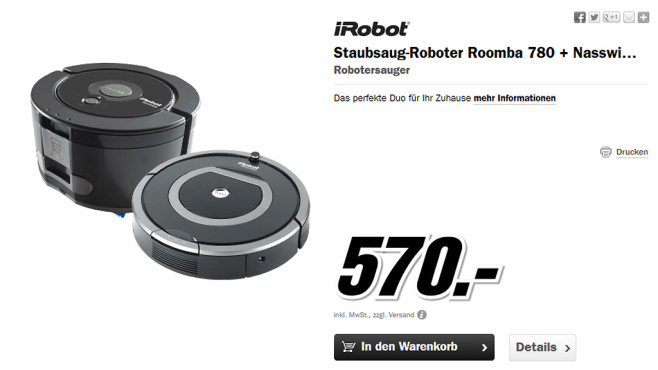 Putzroboter-Set © Media Markt