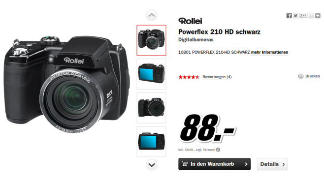 Rollei Powerflex 210 HD © Media Markt