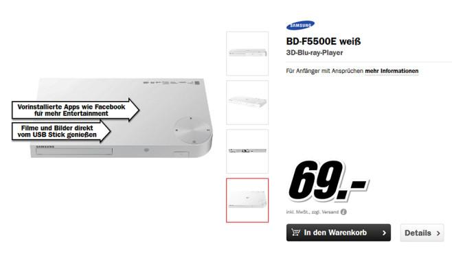 Samsung BD-F5500E ©Media Markt