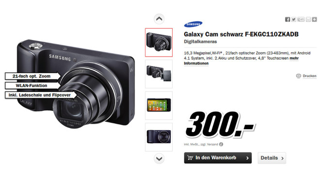 Samsung Galaxy Camera © Media Markt