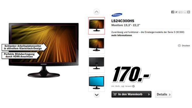 Samsung S24C300H ©Media Markt