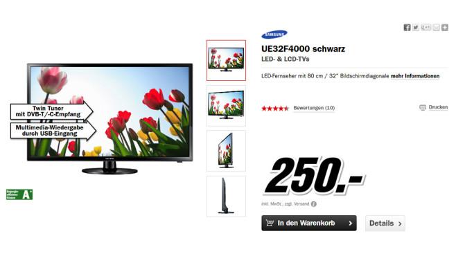 Samsung UE32F4000 ©Media Markt