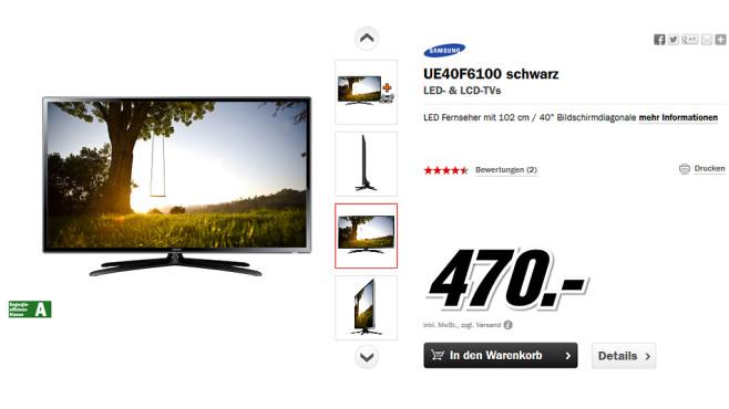 Samsung UE40F6100 ©Media Markt