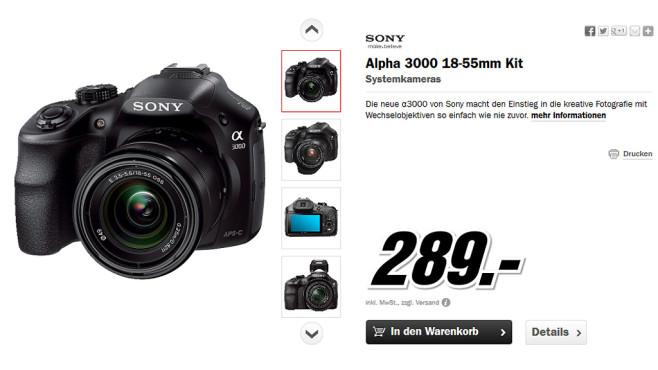 Sony Alpha 3000 Kit 18-55mm (ILCE-3000K) ©Media Markt