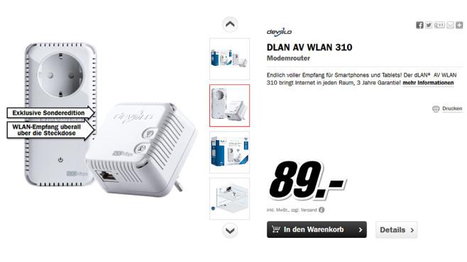 devolo DLAN AV WLAN 310 Starter Kit ©Media Markt