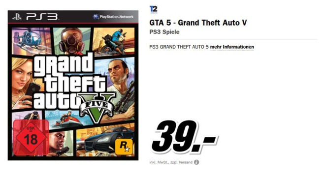 Grand Theft Auto 5 (PS3) © Media Markt