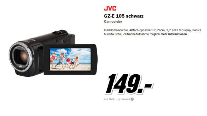 JVC GZ-E105BEU schwarz ©Media Markt