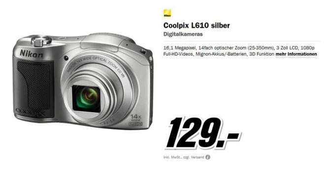 Nikon COOLPIX L610 (silber) ©Media Markt