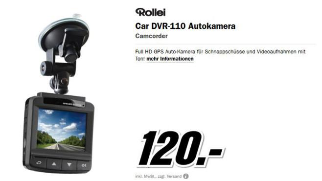 Rollei CarDVR-110 ©Media Markt