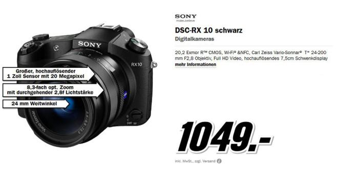 Sony Cyber-shot DSC-RX10 ©Media Markt