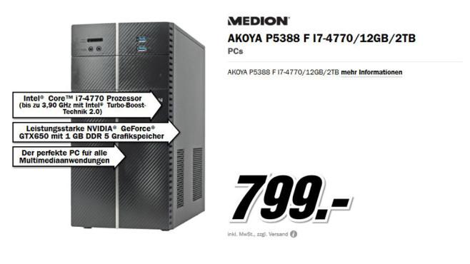 AKOYA P5388 F I7-4770 ©Media Markt