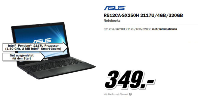 ASUS R512CA-SX250H ©Media Markt
