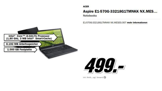 Acer Aspire E1-570G-33218G1TMNKK NX.MESEG.007 ©Media Markt