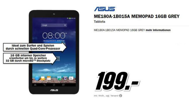 Asus MeMO Pad 8 ©Media Markt