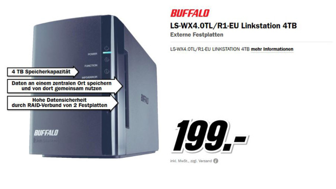 Buffalo LinkStation Duo 4TB © Media Markt